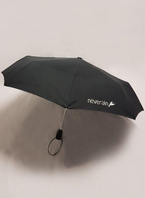 Regenschirm mit neverain Logo