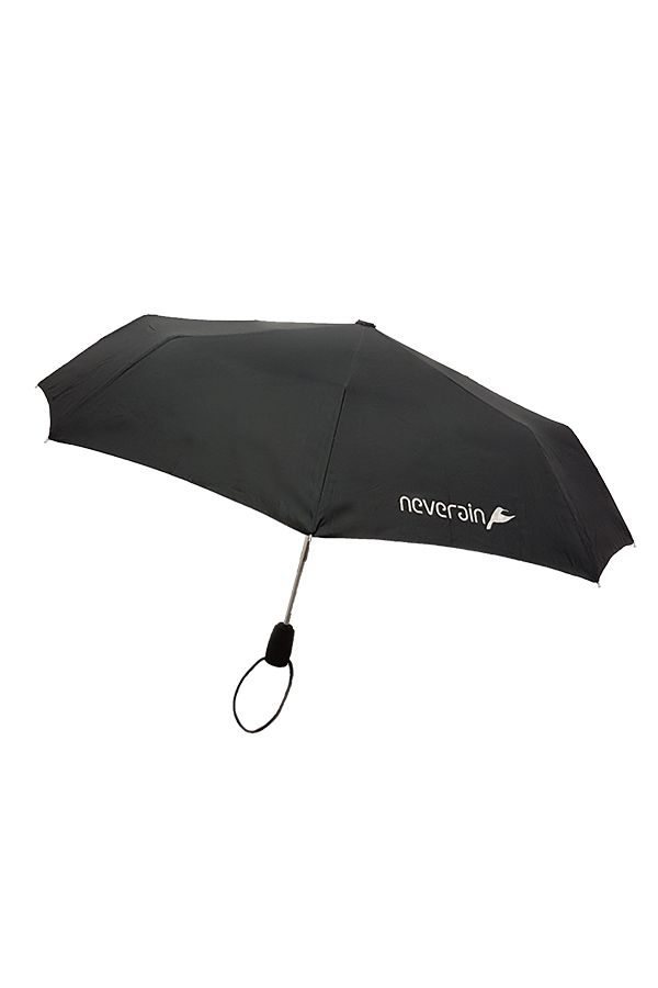 neverain Regenschirm Mini-Taschenschirm mit Logo offen