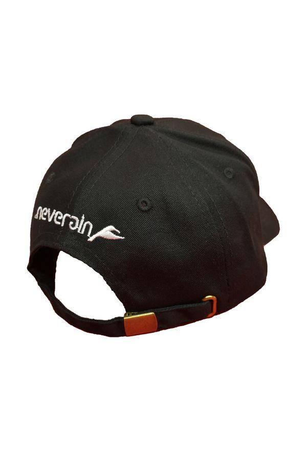 Neverain Baseball-Cap Baumwolle schwarz mit Koliri von hinten im Profil
