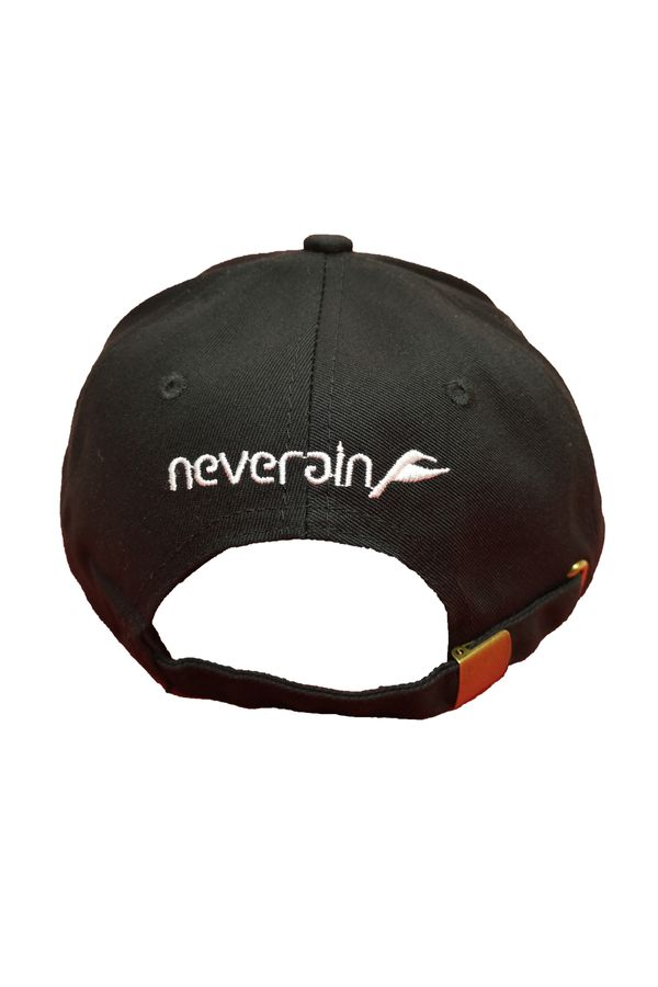 Neverain Baseball-Cap Baumwolle schwarz mit Koliri von hinten