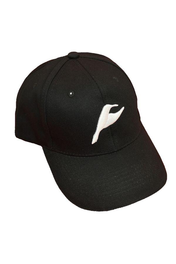 Neverain Baseball-Cap Baumwolle schwarz mit Koliri von vorne im Profil
