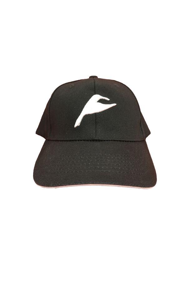 Neverain Baseball-Cap Baumwolle schwarz mit Koliri von vorne