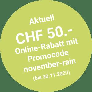 Online-Rabatt CHF 50.- bis 30.11.2020