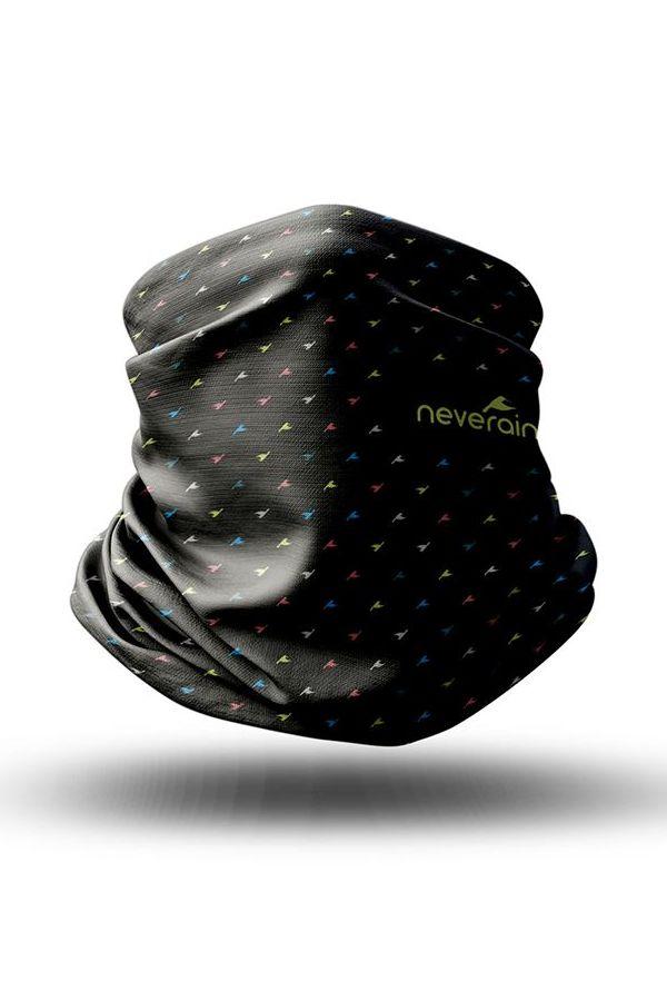 neverain Neck-Tube Schlauchschal schwarz mit Farb-Akzent 3D