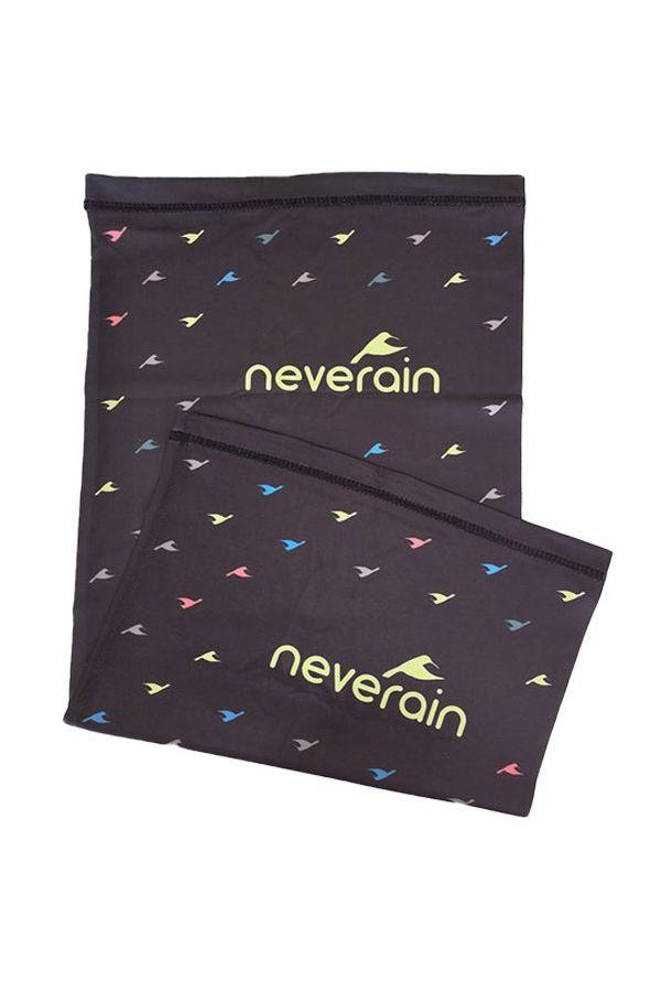 neverain Neck-Tube Schlauchschal schwarz mit Farb-Akzent Rückseite