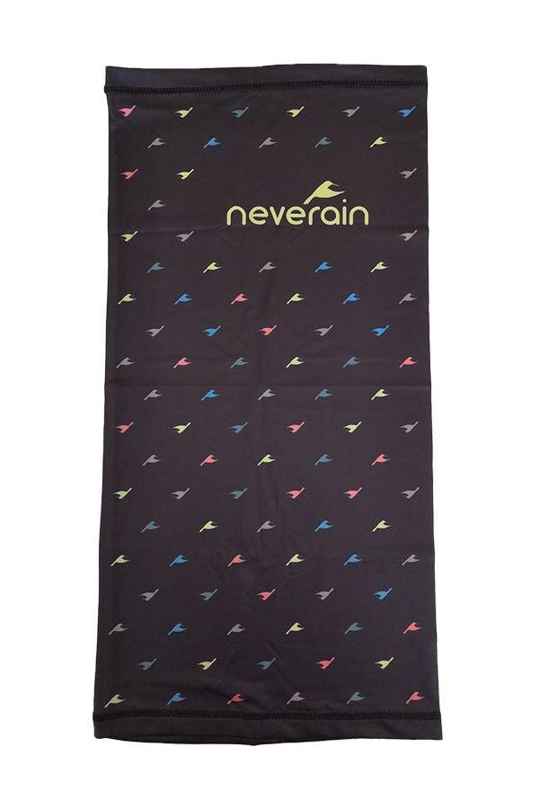 neverain Neck-Tube Schlauchschal schwarz mit Farb-Akzent Vorderseite