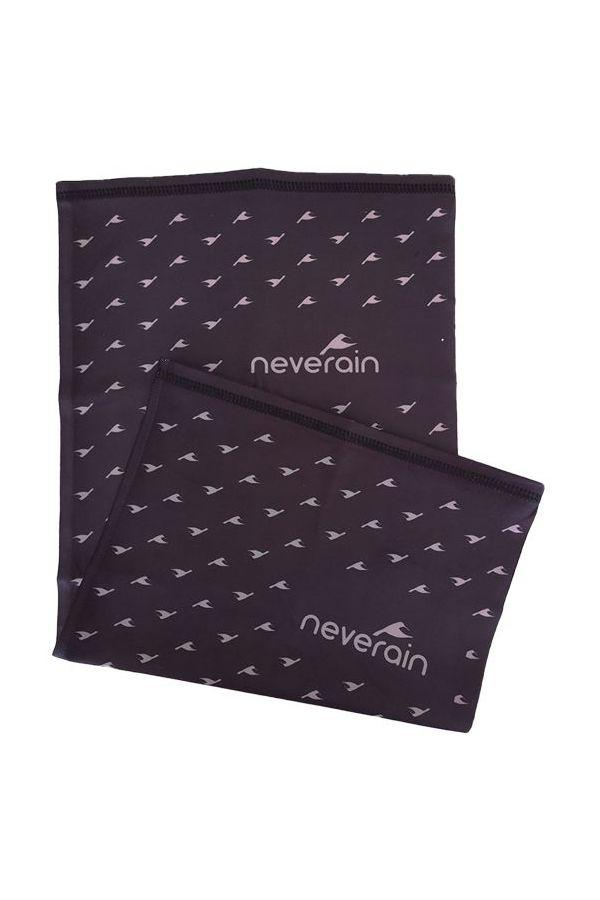 neverain Neck-Tube Schlauchschal schwarz grau Rückseite